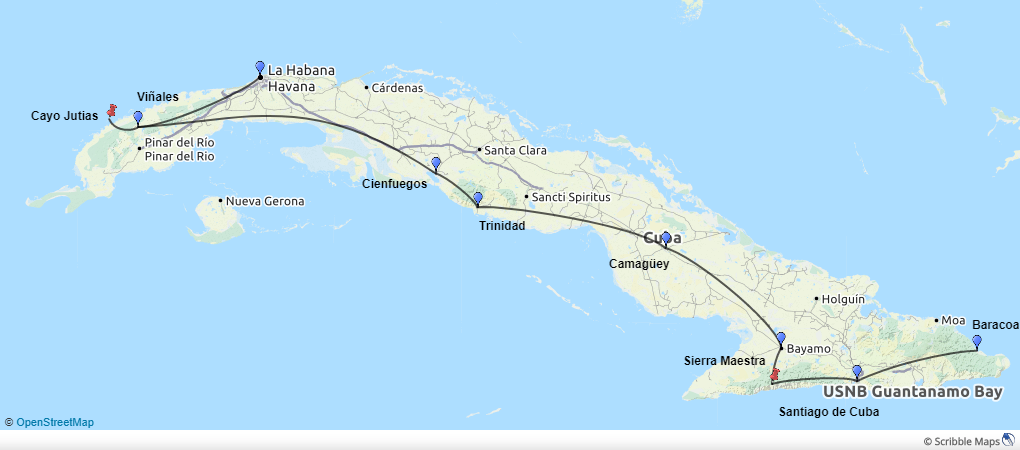 Discover-Cuba-kort