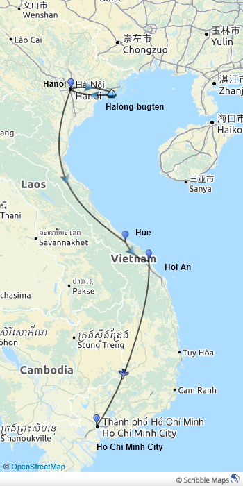 Klassisk-Vietnam-kort