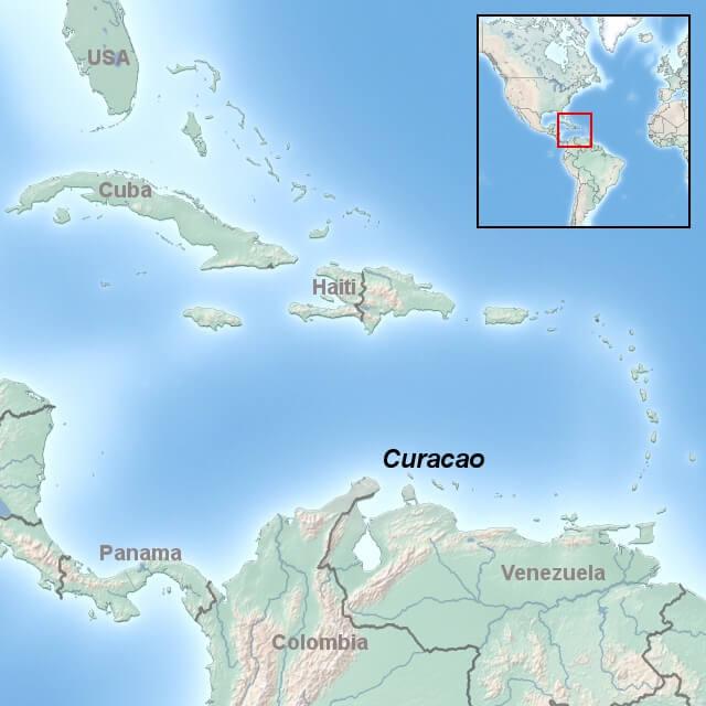 kort-til-curacao