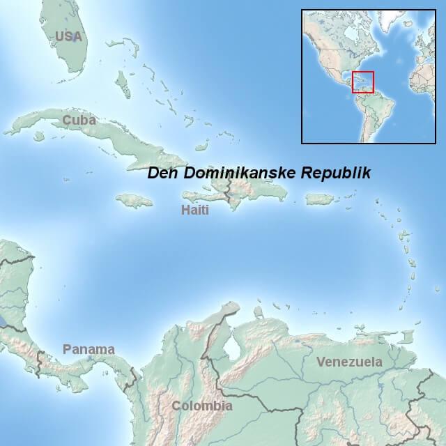 kort-til-den-dominikanske-republik