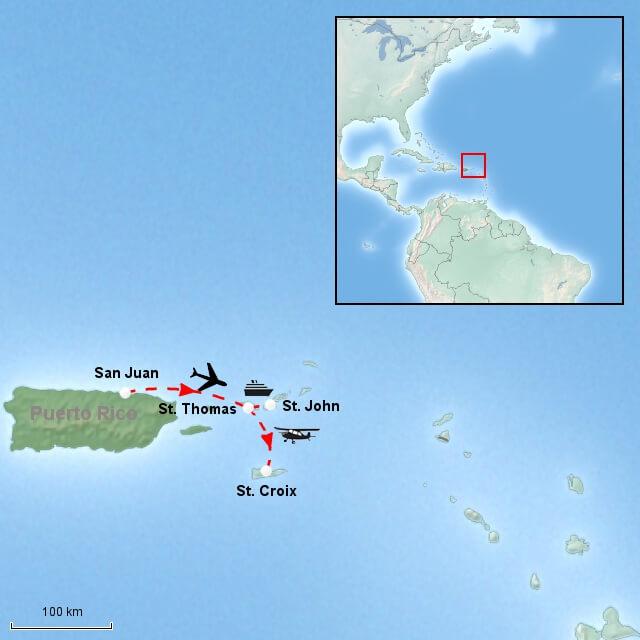 flyvetid vestindiske øer