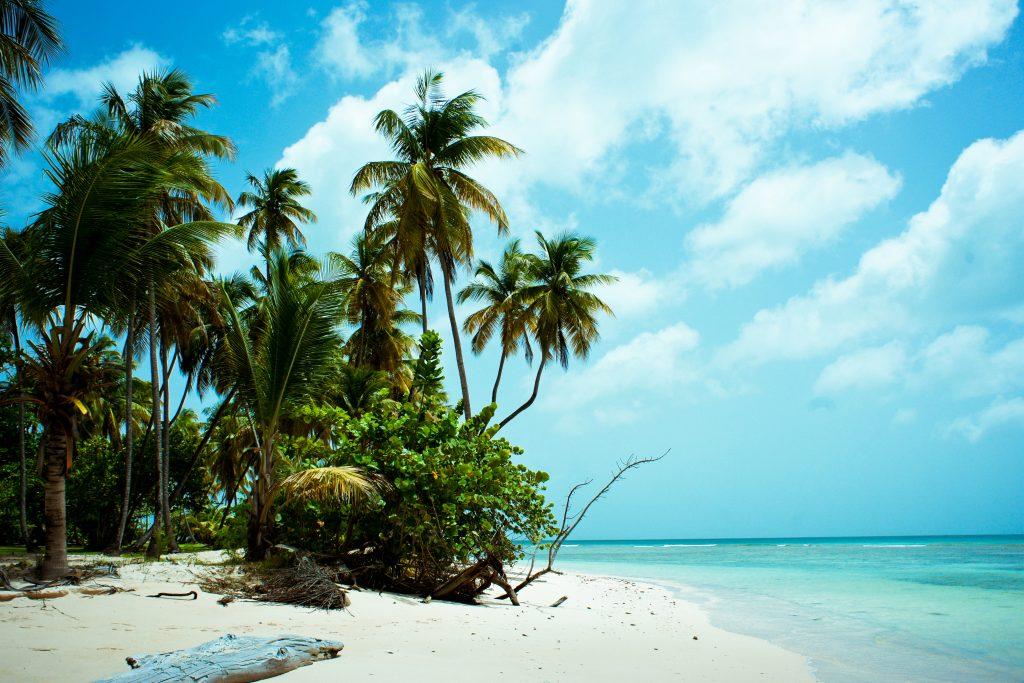 St.Martin/St. Maarten har skønne strande med turkisblåt hav overalt på øen