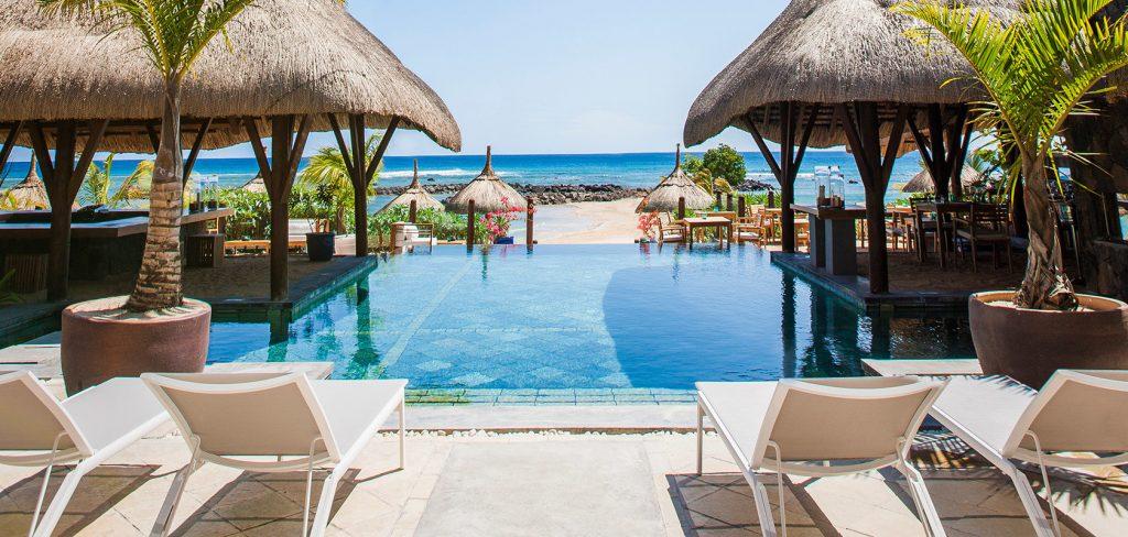 Badeferie i Mauritius. Alle Svane Rejser's hoteller er tæt på stranden