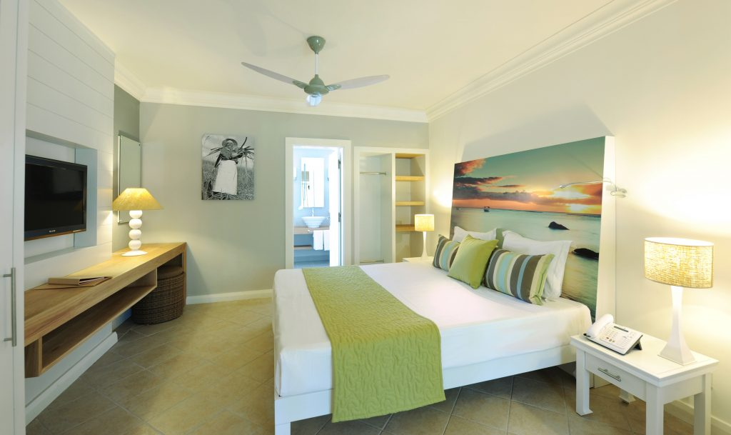 Hotel Grand-Baie's lækre værelser har alt hvad du skal bruge