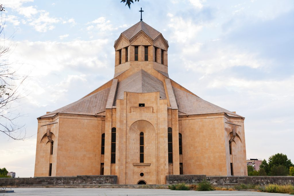 På rejser til Armenien ser du Echmiadzin-katedralen