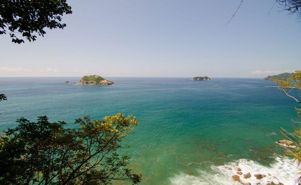 Stillehavet med øer ud for Costa Ricas kyst
