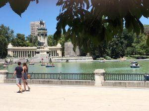 På en rejse til Madrid ser du mange parker