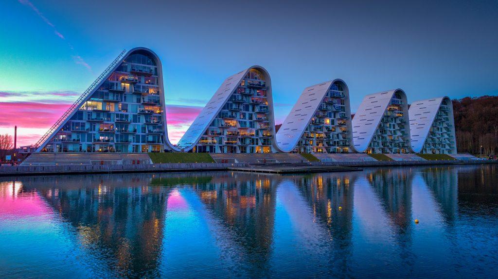 På en ferie i Vejle ser smuk arkitektur