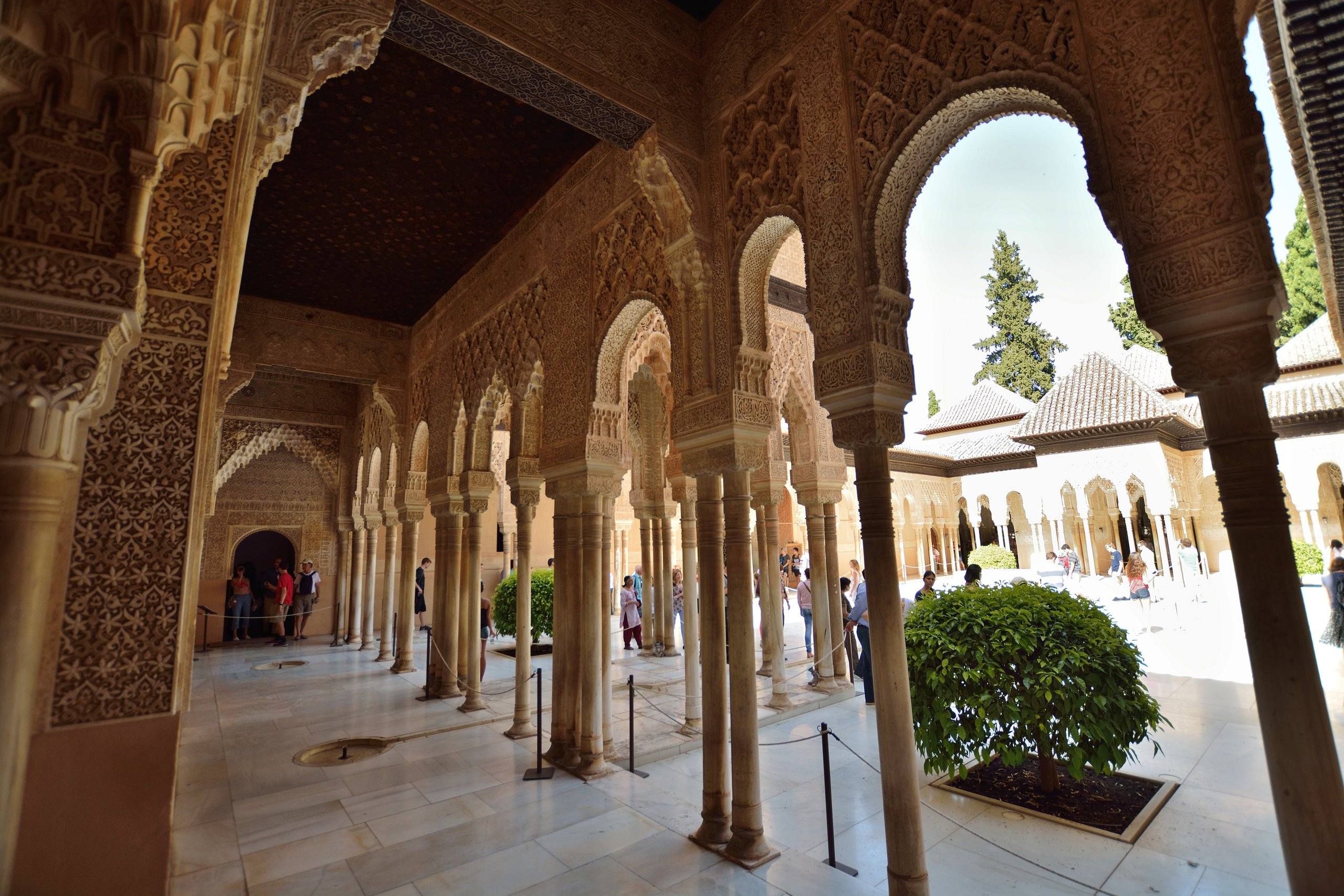 Langtidsferie i Sydspanien. Tag på udflugt til Alhambra