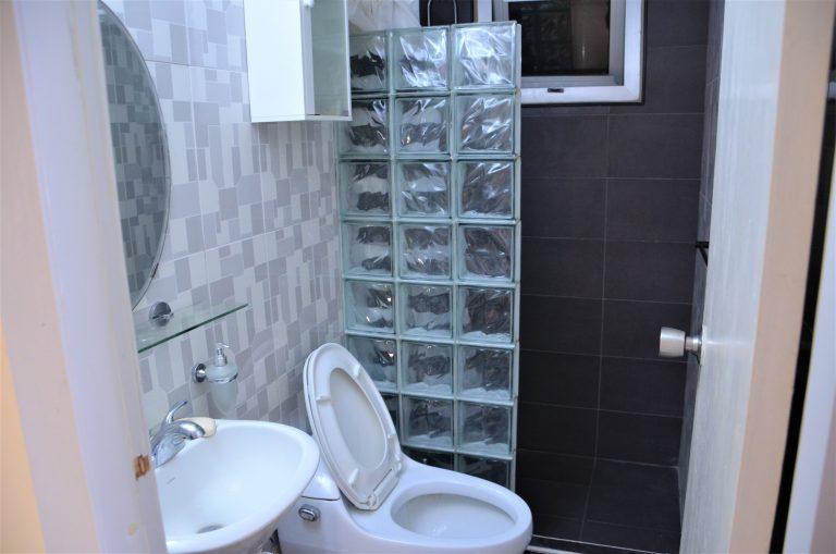 Toilet i Alexis lejlighed