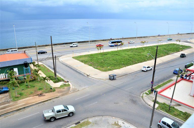 Udsigt fra balkonen til lejligheden til langtidsferie i Cuba