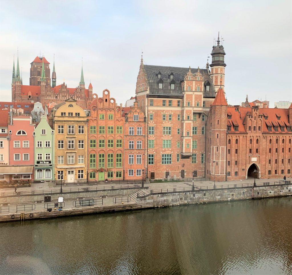 Flod i Gdansk i Polen