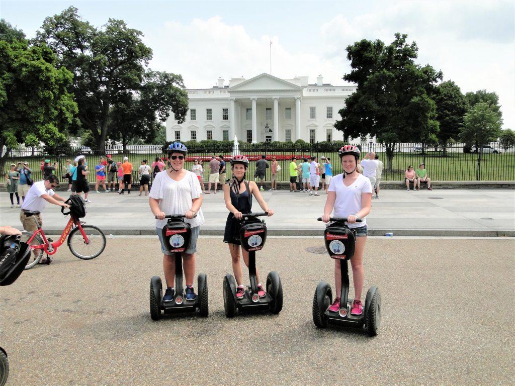 Segways foran Det Hvide Hus