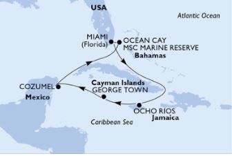 Kort over Caribien